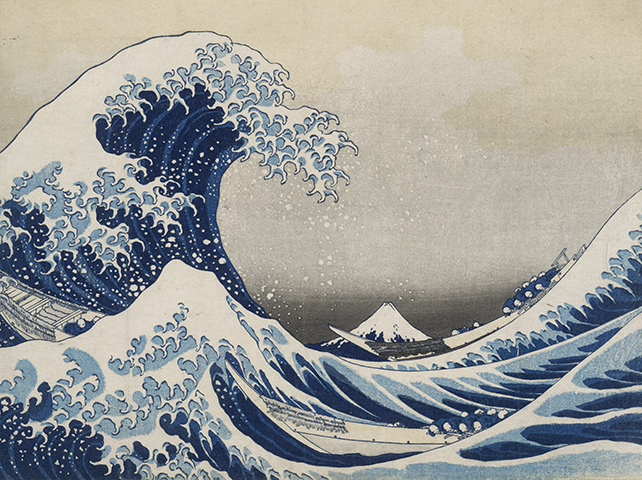 Hokusai's Under the wave off Kanagawa (The Great Wave), 1831, currently on show at the British Museum